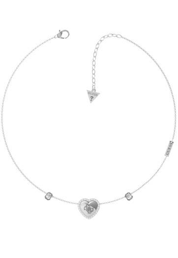 Guess Romantický oceľový náhrdelník That`s Amore JUBN01065JWRH