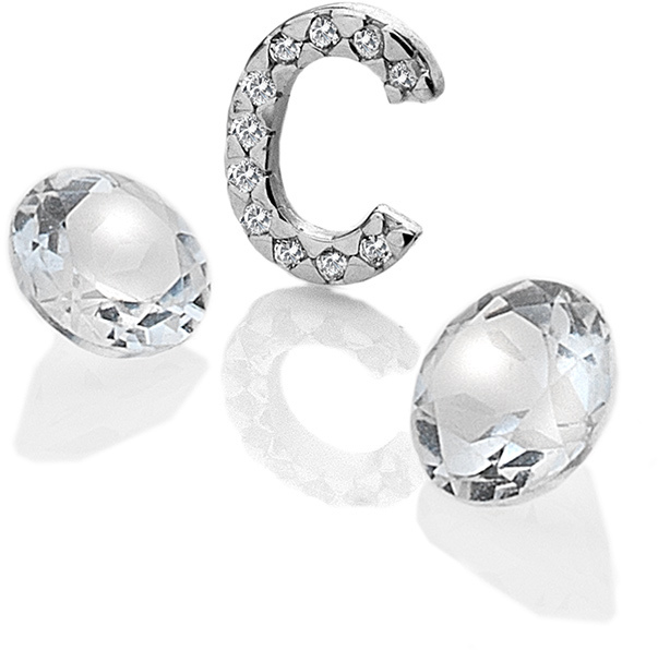 """Hot Diamonds Element písmeno """"C"""" s topazy Anais EX222"""