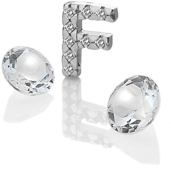 "Hot Diamonds Element písmeno ""F"" s topazy Anais EX225"