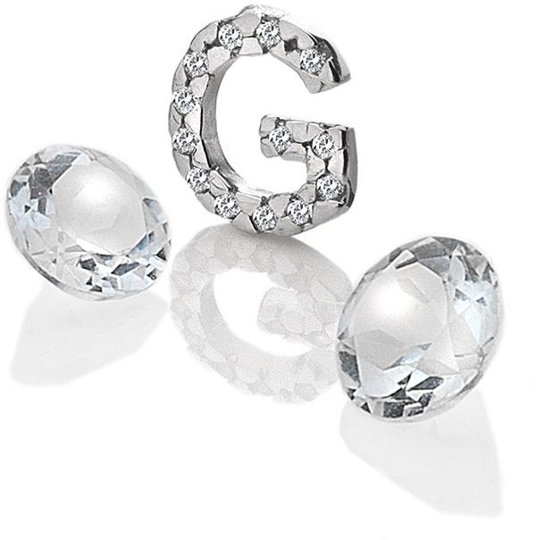 """Hot Diamonds Element písmeno """"G"""" s topazy Anais EX226"""