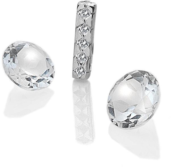 """Hot Diamonds Element písmeno """"I"""" s topazy Anais EX228"""
