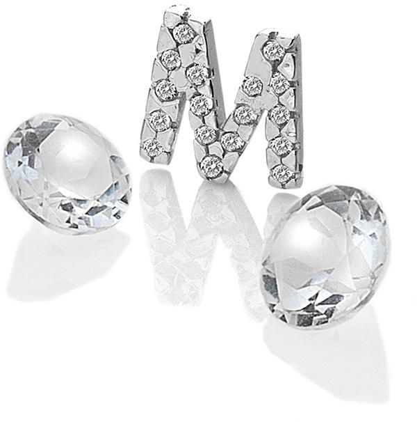"""Hot Diamonds Element písmeno """"M"""" s topazy Anais EX232"""