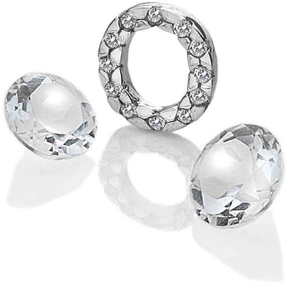"""Hot Diamonds Element písmeno """"O"""" s topazy Anais EX234"""