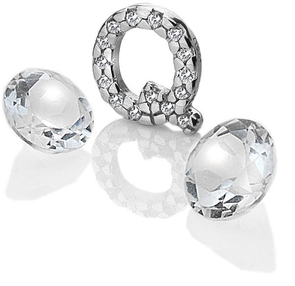 """Hot Diamonds Element písmeno """"Q"""" s topazy Anais EX236"""