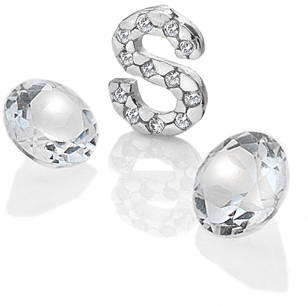 "Hot Diamonds Element písmeno ""S"" s topazy Anais EX238"