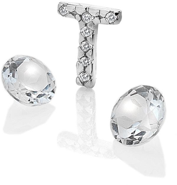 "Hot Diamonds Element písmeno ""T"" s topazy Anais EX239"