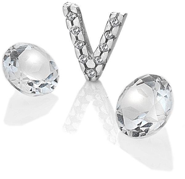 """Hot Diamonds Element písmeno """"V"""" s topazy Anais EX241"""