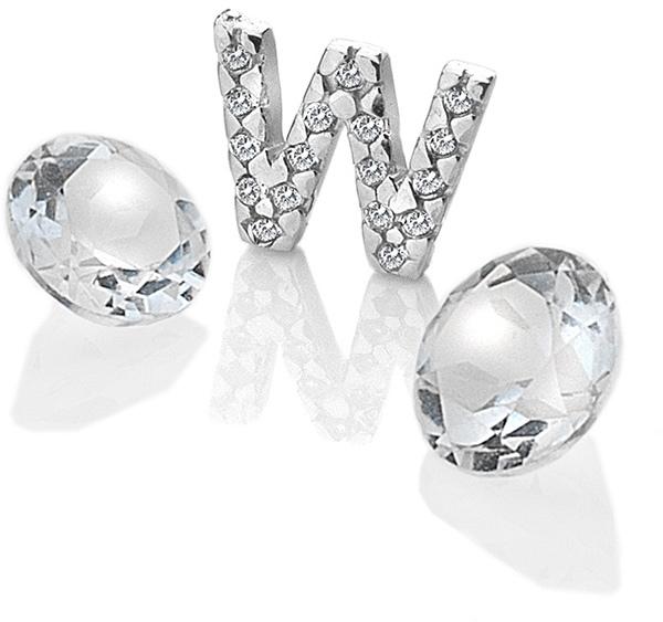 "Hot Diamonds Element písmeno ""W"" s topazy Anais EX242"