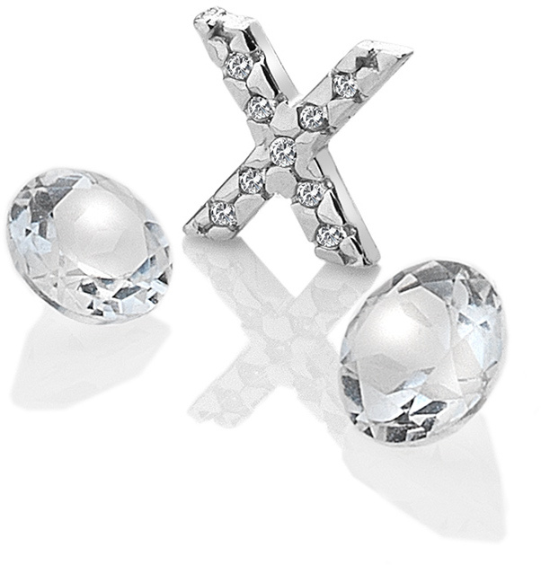 "Hot Diamonds Element písmeno ""X"" s topazy Anais EX243"