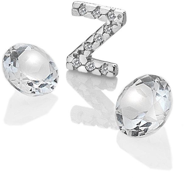 """Hot Diamonds Element písmeno """"Z"""" s topazy Anais EX245"""