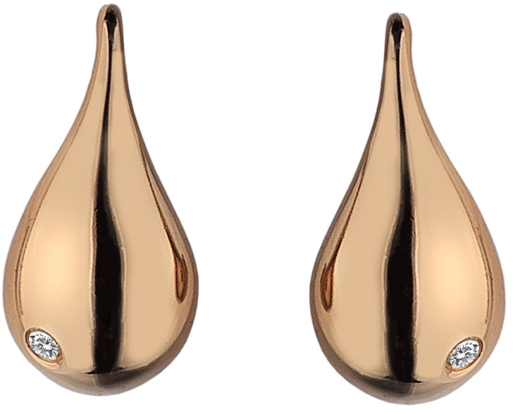 Hot Diamonds Náušnice Mirage Drop Rose Gold DE437