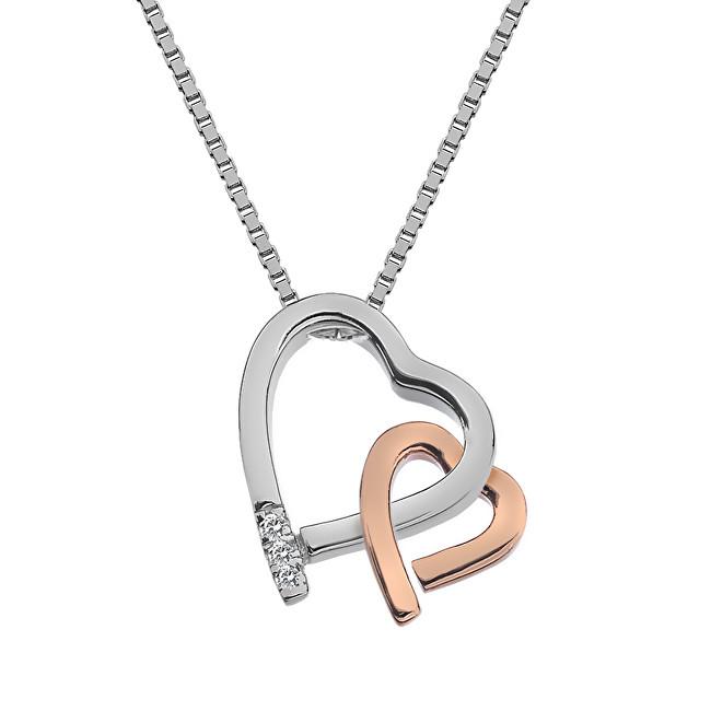 Hot Diamonds Prekrásny náhrdelník Hot Diamonds Love DP660 (retiazka, prívesok)