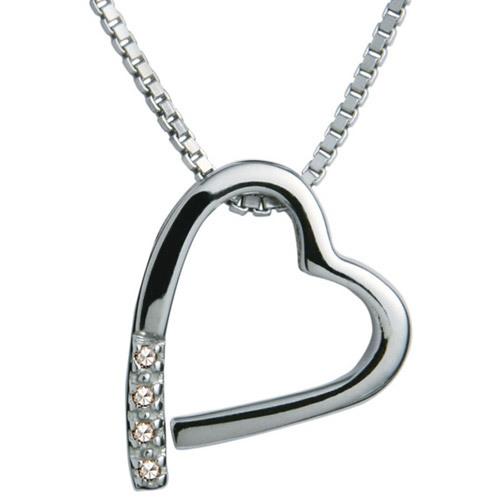 Hot Diamonds Náhrdelník Hot Diamonds Just Add Love Memories DP100 (retiazka, prívesok)