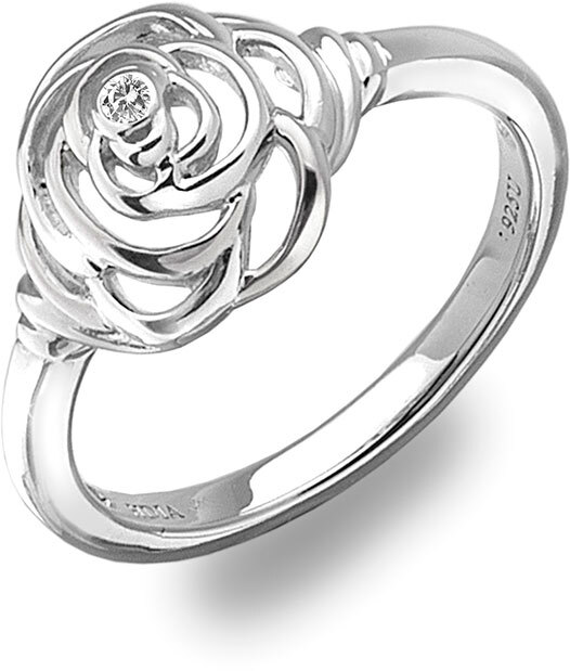 Hot Diamonds Prsten Eternal Rose Silver DR122