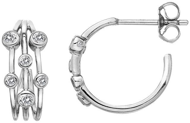 Hot Diamonds Strieborné kruhové náušnice s diamantmi Tender DE641