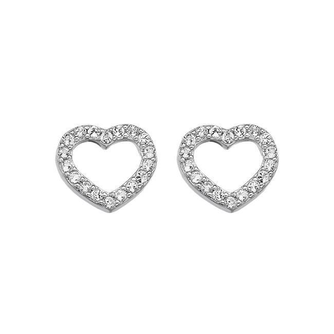 Hot Diamonds Strieborné náušnice Hot Diamonds Love DE535