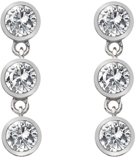 Hot Diamonds Strieborné náušnice s topaz a pravým diamantom Willow DE585