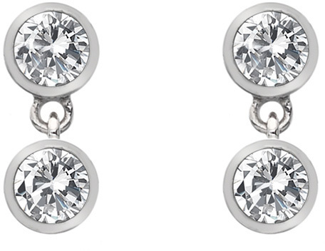 Hot Diamonds Strieborné náušnice s topaz a pravým diamantom Willow DE586