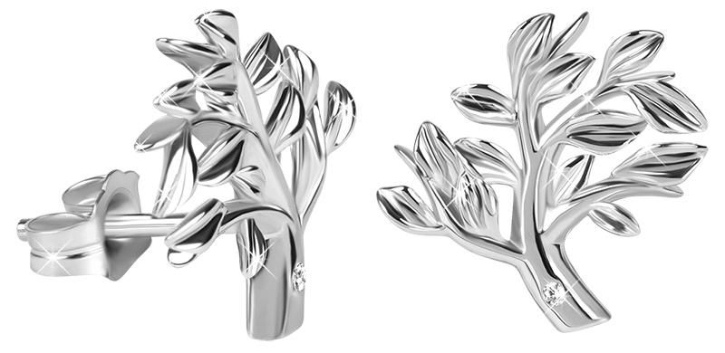 Hot Diamonds Stříbrné náušnice se stromem života Jasmine DE565