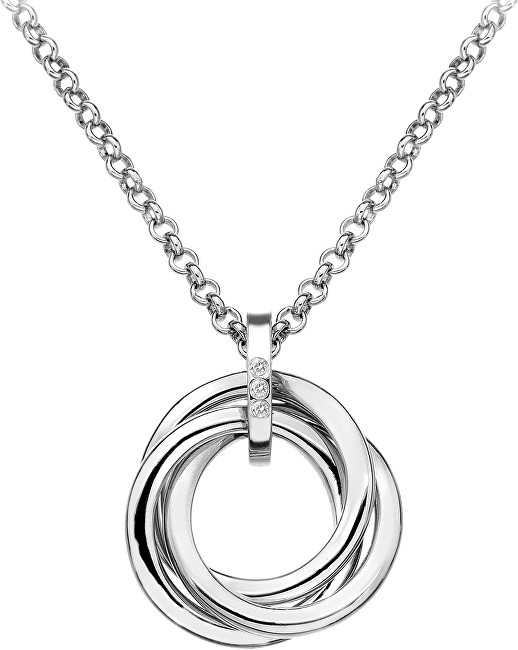 Hot Diamonds Strieborný náhrdelník Trio DP543 (retiazka, prívesok)