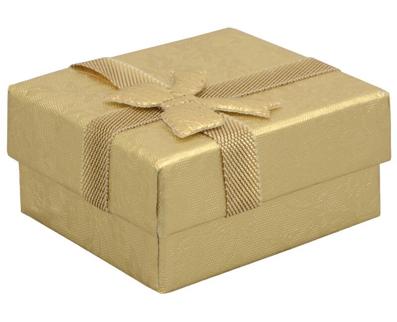 JK Box Darčeková krabička na náušnice v zlatej farbe RZ-1 / AU
