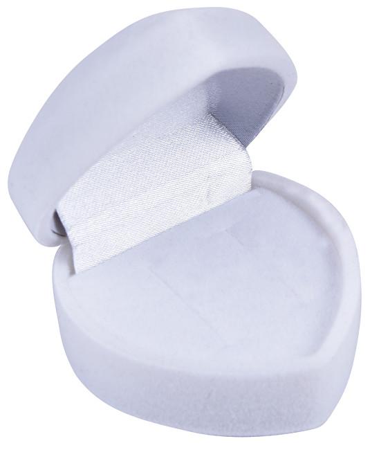 JK Box Biela darčeková krabička na náušnice Srdce F-75 / NA / A1