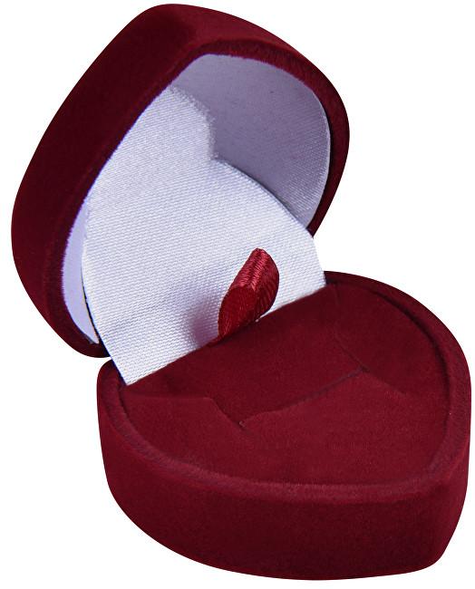 JK Box Bordó darčeková krabička na náušnice alebo prsteň Srdce F-75 / A10