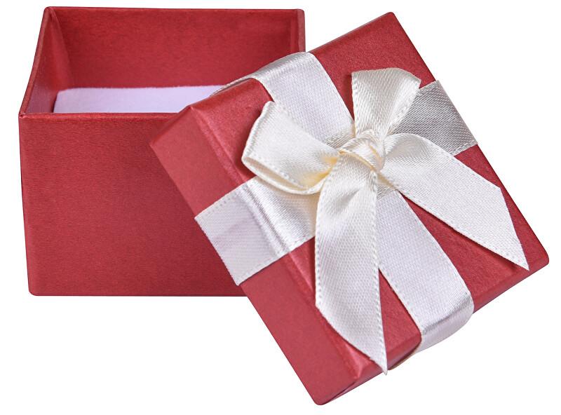 JK Box Červená krabička na náušnice alebo prsteň AP-2 / A10