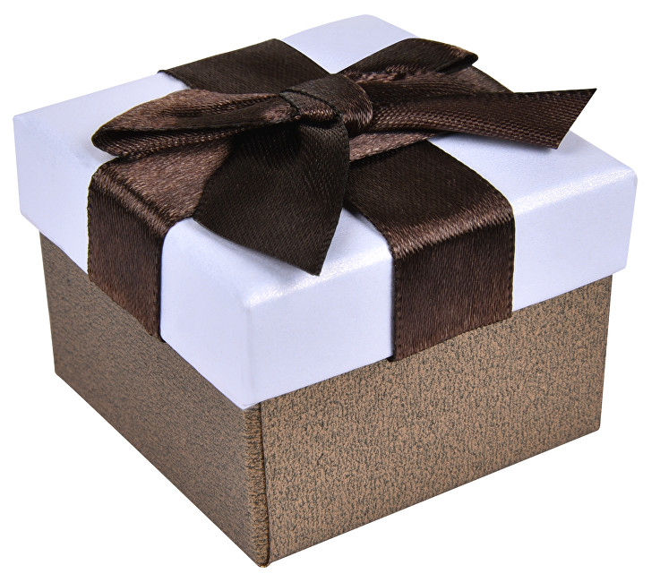 JK Box Hnedá krabička na náušnice alebo prsteň AP-2 / A21