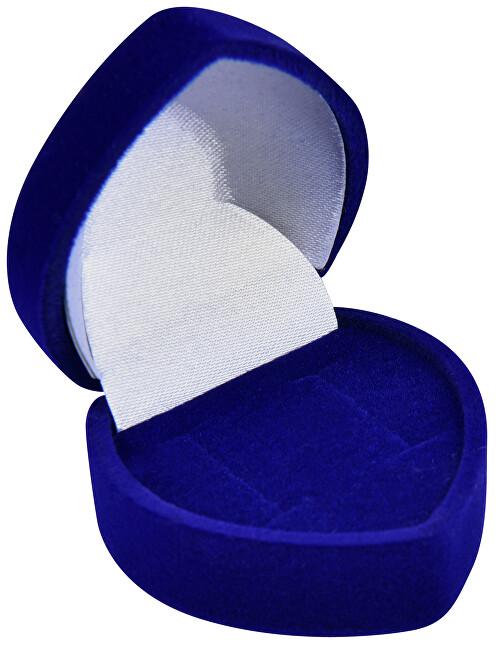 JK Box Modrá darčeková krabička na náušnice Srdce F-75 / NA / A14