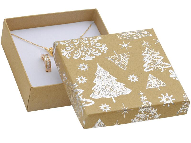 JK Box Vánoční dárková krabička na náušnice KX-5/AG