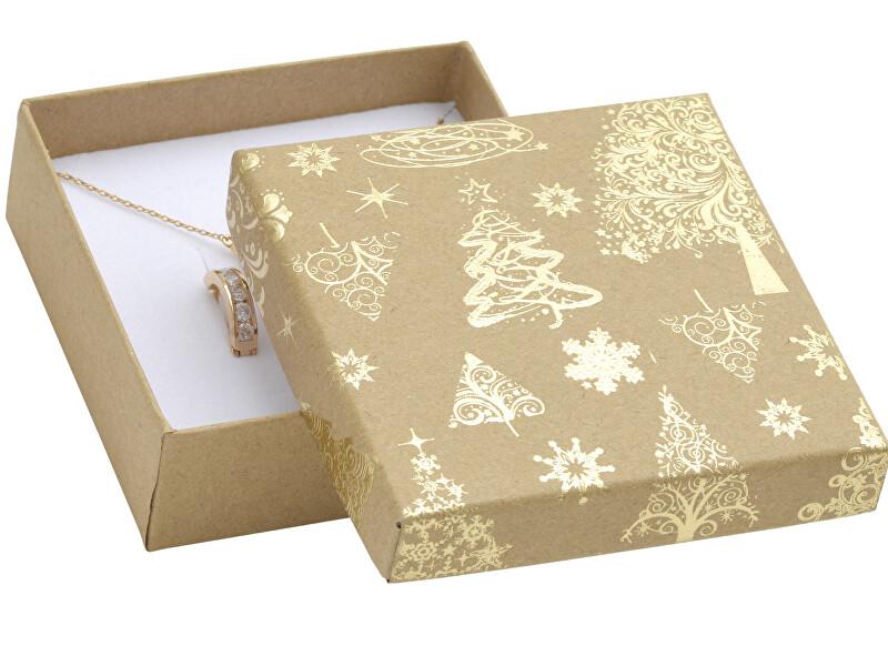JK Box Vánoční dárková krabička na náušnice KX-5/AU