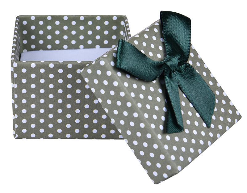 JK Box Zelená Bodkovaná krabička na náušnice alebo prsteň KKK-3 / A19