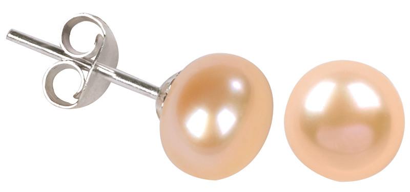 JwL Luxury Pearls Náušnice z pravých lososových perel JL0027