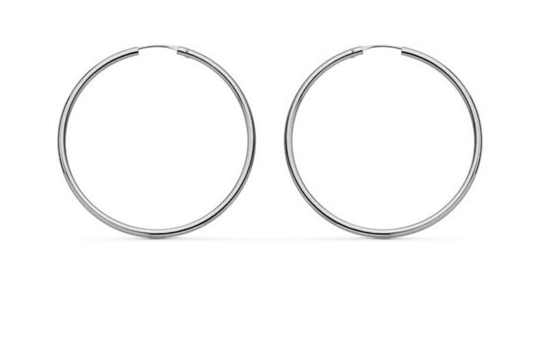 JVD Minimalistické strieborné náušnice kruhy SVLE0956XH200 3 cm