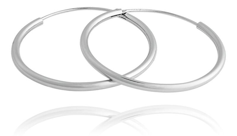 JVD Nestarnúci strieborné kruhové náušnice SVLE0208XD500 4 cm