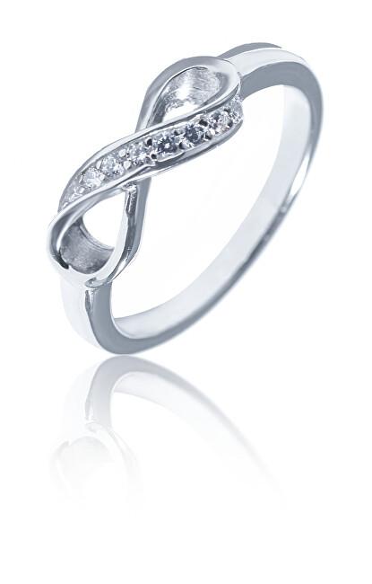 JVD Okouzlující stříbrný prsten nekonečno SVLR0322XH2BI 52 mm