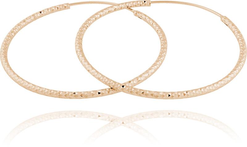 JVD Pozlátené strieborné náušnice kruhy SVLE0216XD5RO 4 cm