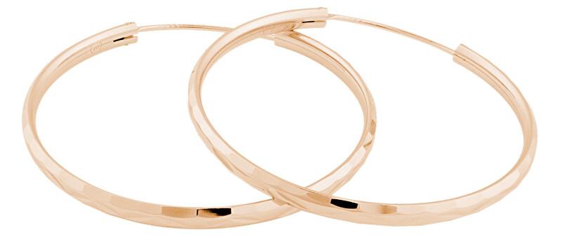 JVD Ružovo pozlátené strieborné náušnice kruhy SVLE0209XD5RO 4 cm