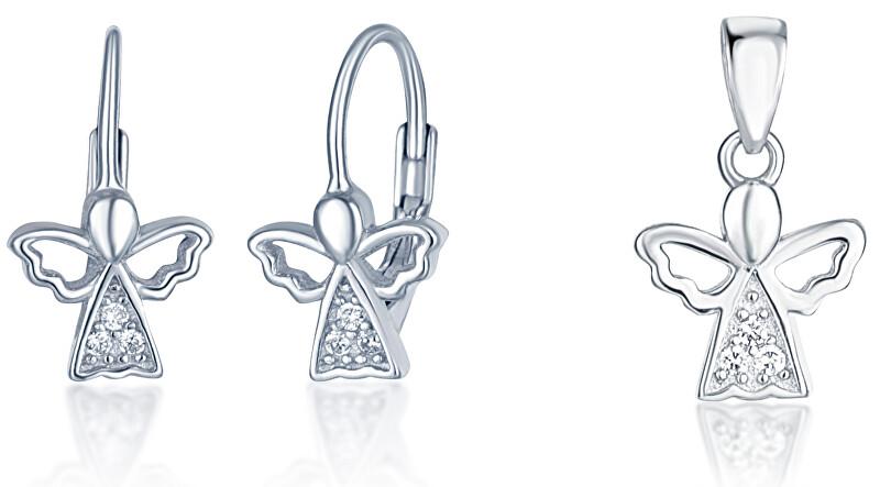 JVD Stříbrná sada šperků Andělé (přívěsek, náušnice) SVLS0033SF6BI00