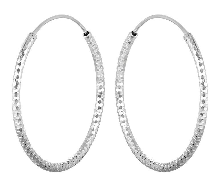 JVD Strieborné náušnice kruhy SVLE0204XD500 4 cm