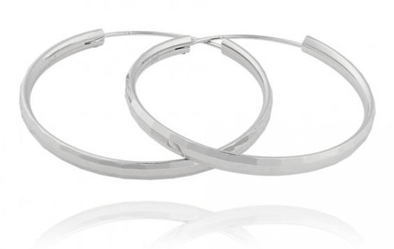 JVD Strieborné náušnice kruhy SVLE0207XD500 4 cm
