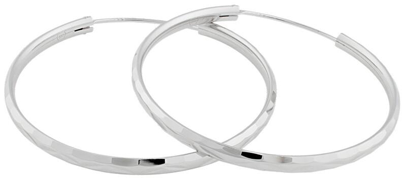 JVD Strieborné náušnice kruhy SVLE0209XD500 4 cm