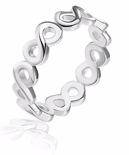 JVD Stříbrný minimalistický prsten Nekonečno SVLR0295XH200 54 mm