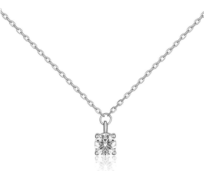 JVD Strieborný náhrdelník s čírym zirkónom SVLN0365SH2BI42