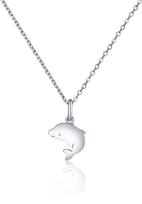 JVD Strieborný náhrdelník s delfínom SVLN0394SH2DE38