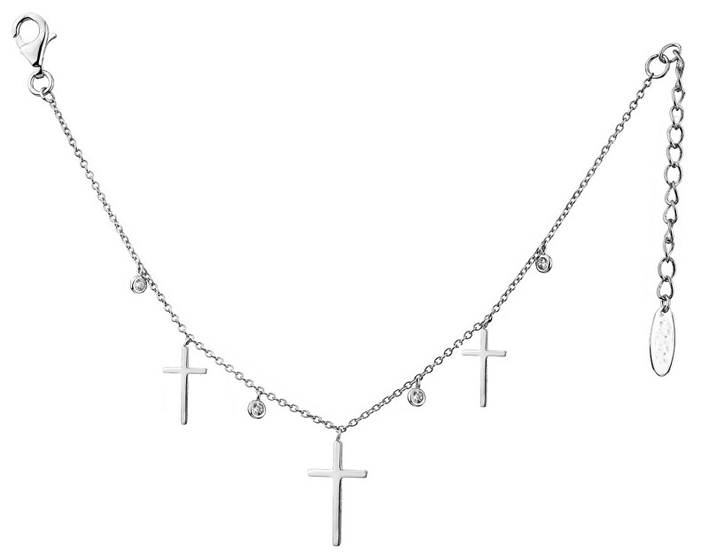 JVD Strieborný náhrdelník s krížikmi SVLN0143XH2BI40