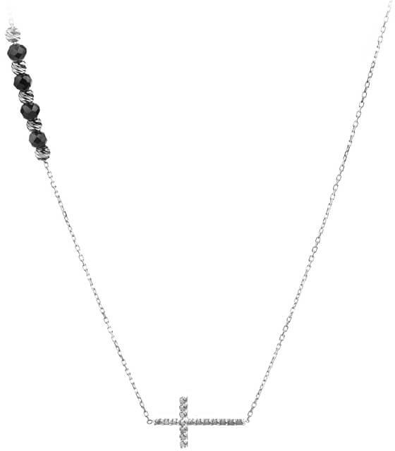 JVD Strieborný náhrdelník s Onyx SVLN0177XH2ON00