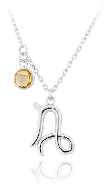 JVD Strieborný náhrdelník s príveskom Kozorožec SVLN0135X6100KO