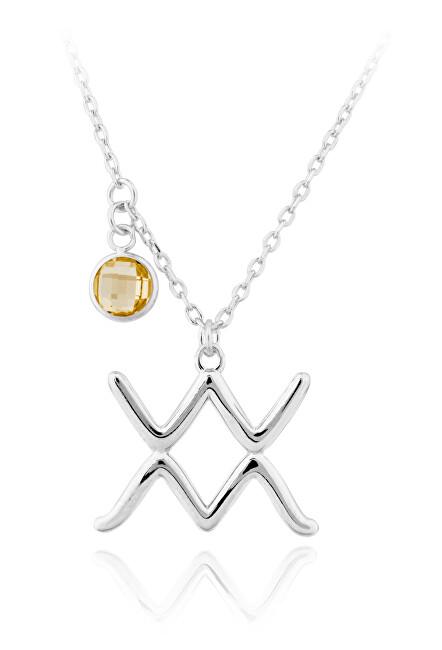 JVD Strieborný náhrdelník s príveskom Vodnár SVLN0135X6100VO